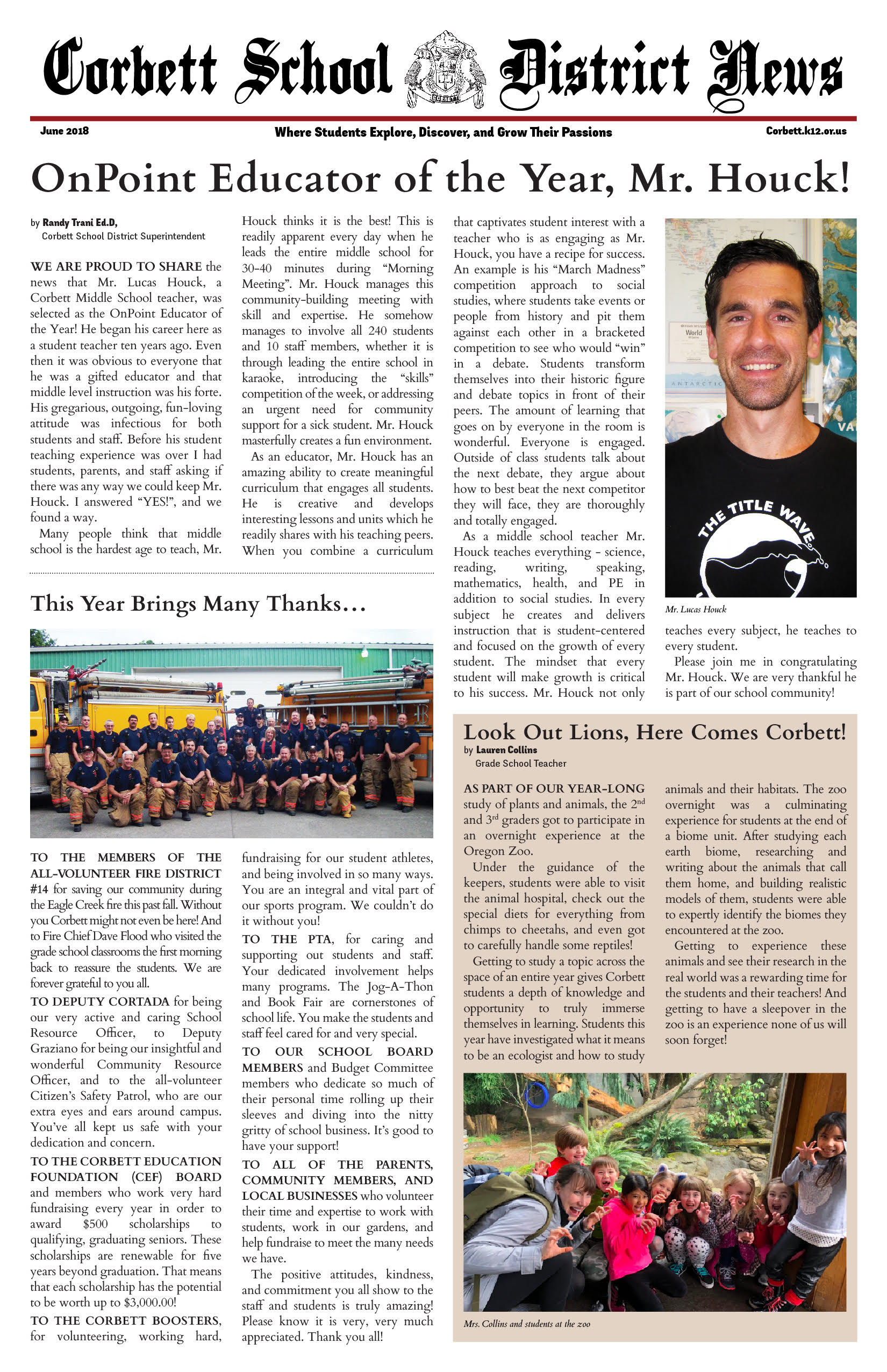 Heres Our June School Newspaper That Was Mailed To The Community A Few Weeks Ago Enjoy Reading About Our Students School Clubs And Community